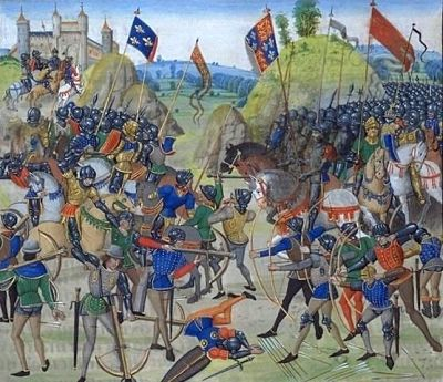 Longbow victory at Crecy