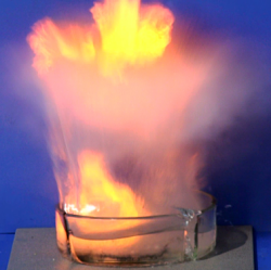 sodium and water explosion