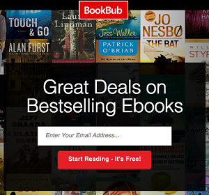 Bookbub service sign-up