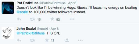 Twitter follower count