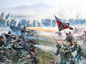 Pickett's charge civil warfare tactics