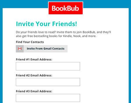 bookbub invite friends
