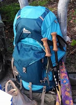 Modern hiking pack
