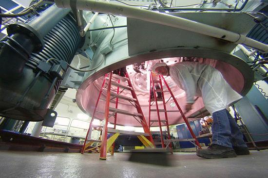 Astronomy telescope floor