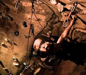 Lead rock climber