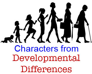 characters developmental differences