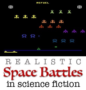 realistic space battles in scifi