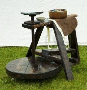 Pottery kick wheel